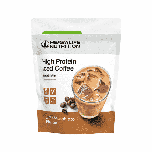 High Protein Iced Coffee – Latte Macchiato Geschmack