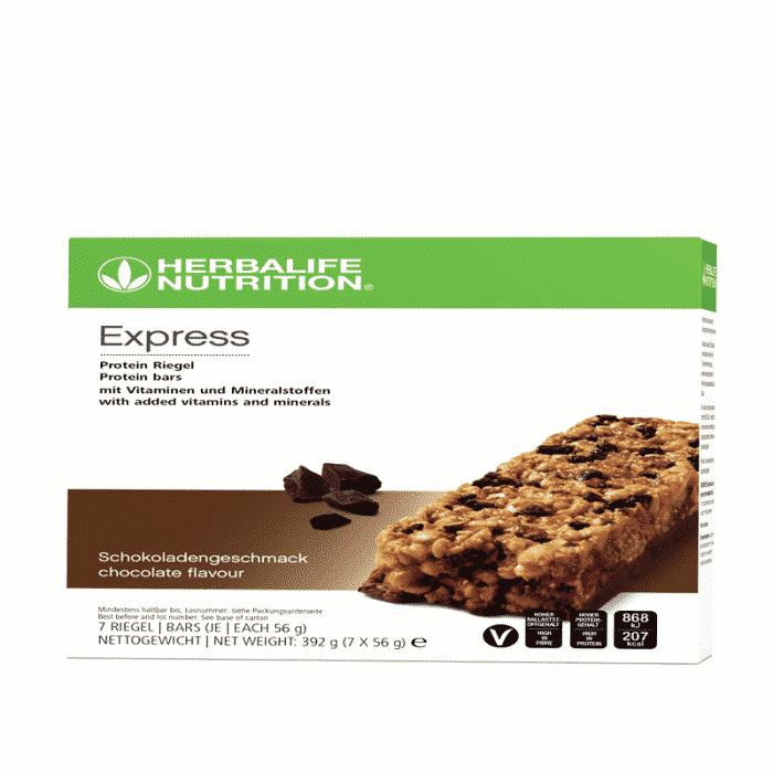 Express Protein Riegel mit Vitaminen und Mineralstoffen Schokolade