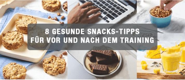 8 gesunde Snacks-Tipps für vor und nach den Training