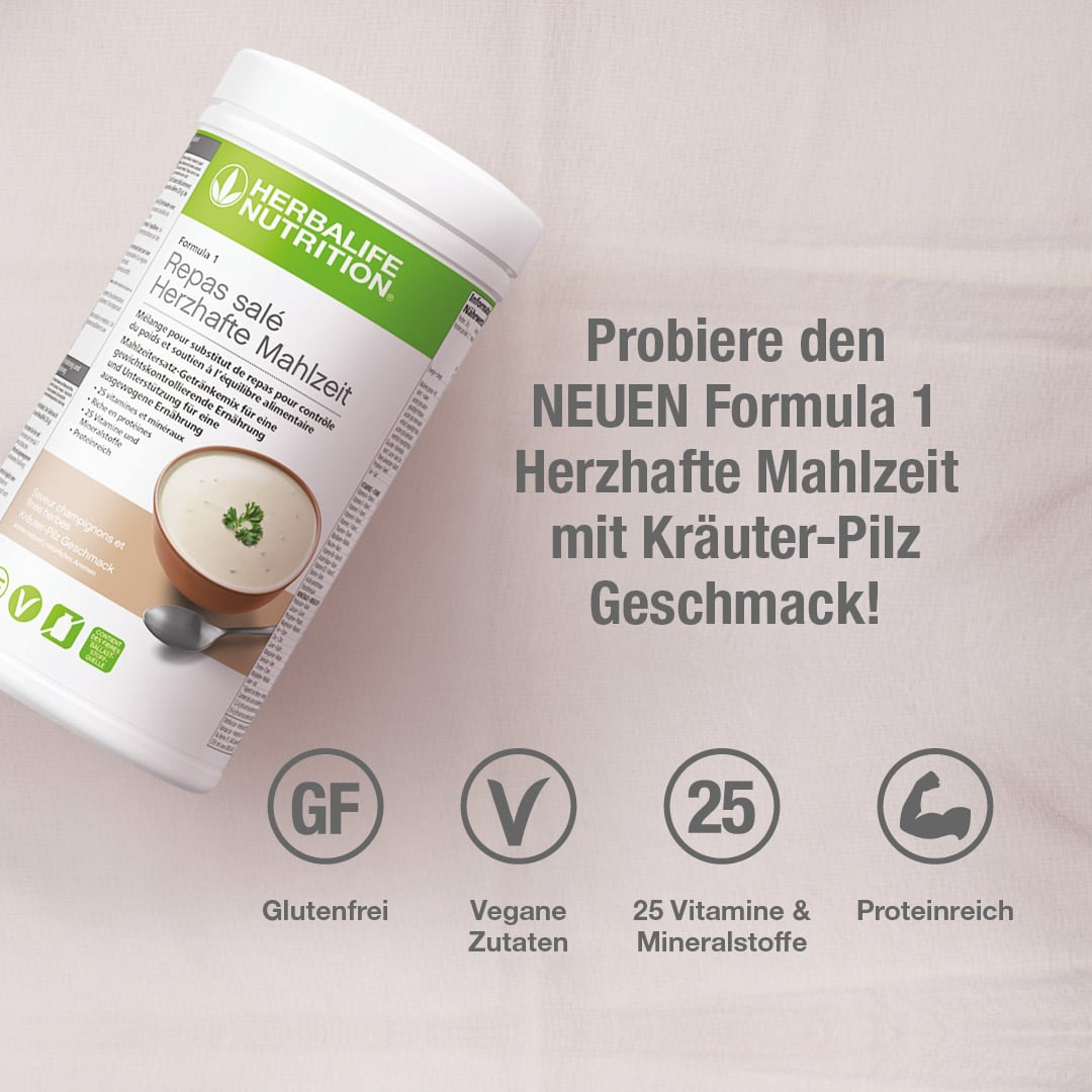 Formula 1 Herzhafte Mahlzeit Kräuter-Pilz Geschmack